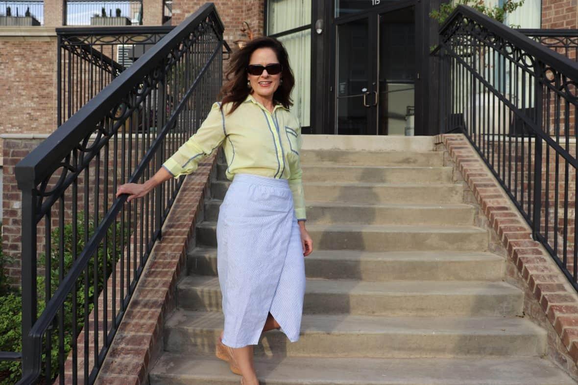 Seersucker Skirt – Creative Way to Wear